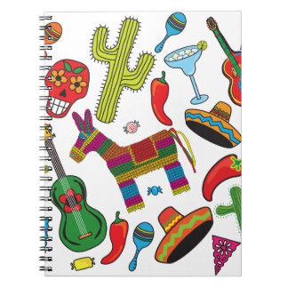 Mexican Fiesta Party Images Notebook