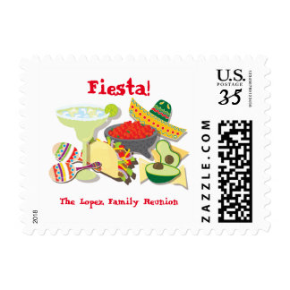 Mexican Fiesta Party postage stamps