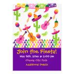 Mexican Fiesta Party Sombrero Saguaro Invitations