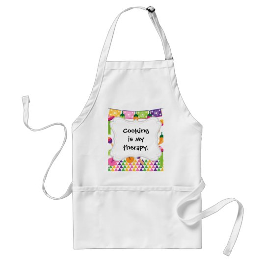 Mexican Fiesta Party Sombrero Saguaro Lime Peppers Adult Apron
