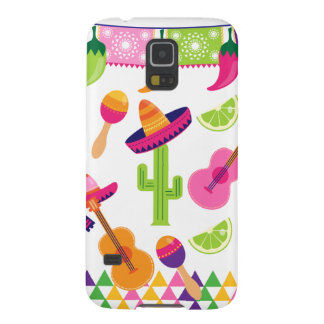 Mexican Fiesta Party Sombrero Saguaro Lime Peppers Galaxy S5 Case