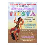 "Mexican Fiesta PIn up Bridal Shower Invitations 5"" X 7"" Invitation Card"