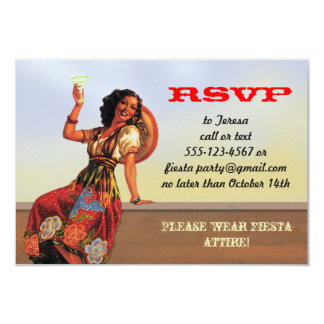 Mexican Fiesta PIn up RSVP cards
