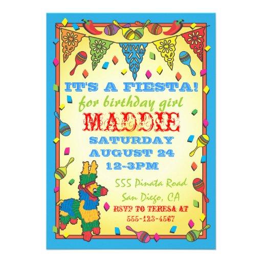 Mexican Fiesta Invitations with good invitation sample