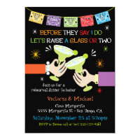 Mexican Fiesta Rehearsal Dinner Card