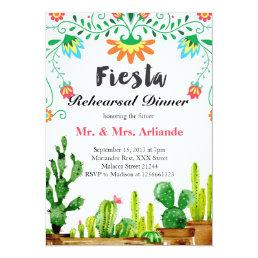 Mexican Fiesta Rehearsal Dinner Invitation