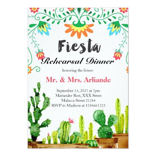 Mexican Food Rehearsal Dinner Invitations