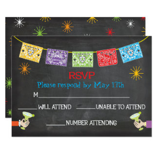 Mexican Fiesta RSVP cards