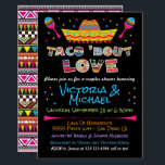 "Mexican Fiesta taco bout love couples shower Invitation<br><div class=""desc"">Mexican Fiesta Taco"