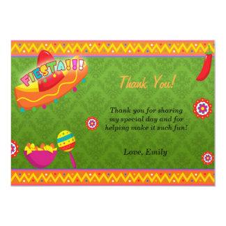 Mexican Fiesta Thank You Card Announcement