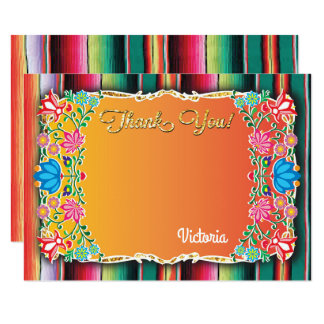 Mexican Fiesta Thank you note card