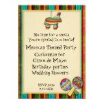 """Mexican Fiesta Themed Invitation 5"""" X 7"""" Invitation Card"""