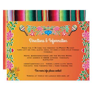 Mexican Fiesta Wedding info cards