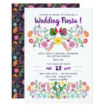 Mexican FIESTA Wedding Invitation Folk Art
