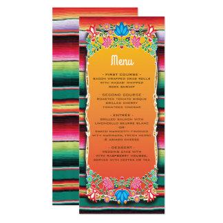 Mexican Fiesta Wedding menu card