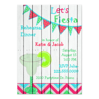 Mexican Fiesta Wedding Rehearsal Dinner Invitation