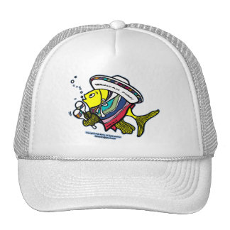 Mexican fish mesh hat