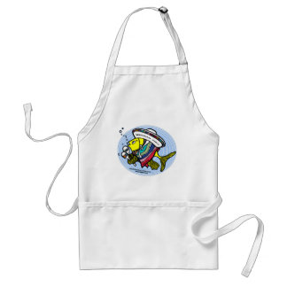 Mexican Fish in a circle Adult Apron