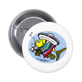 Mexican Fish in a circle Buttons
