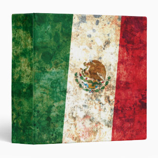 Mexican Flag 3 Ring Binder