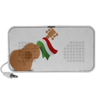 Mexican Flag and Guitar Portable Speaker