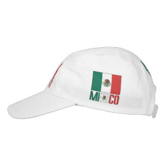 Mexican Flag and Mexico Headsweats Hat
