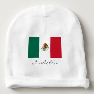 Mexican flag baby beanie hat for boy or girl