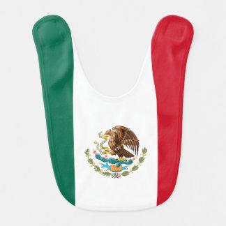 Mexican flag baby bib
