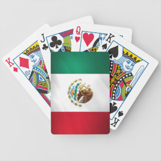 Mexican Flag Bicycle Playing Cards