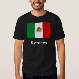 Mexican Flag Blk T-shirt