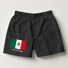 Mexican Flag Boxer Shorts Underwear For Men at Zazzle