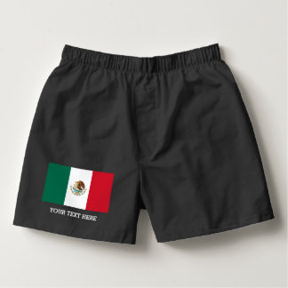 Mexican flag boxer shorts underwear for men
