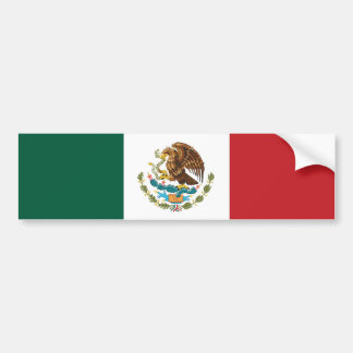 Mexican Flag bumper sticker