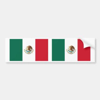 Mexican Flag Car Bumper Sticker