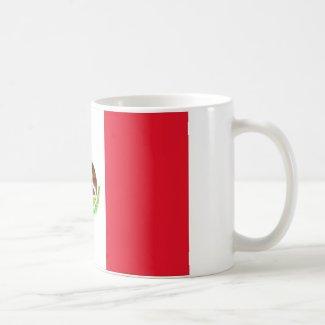 Mexican Flag Classic White Coffee Mug