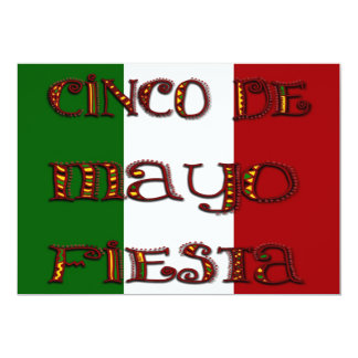 Mexican Flag Colorful Cinco de Mayo Invitation