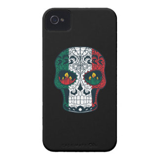 Mexican Flag Colors Day Of The Dead Sugar Skull Case-Mate iPhone 4 Case