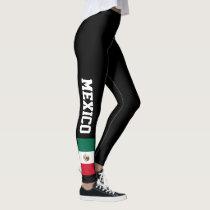 Mexican flag custom leggings for sport and fitness