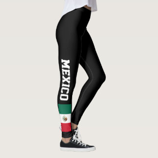 Mexican flag custom leggings for sport and fitness
