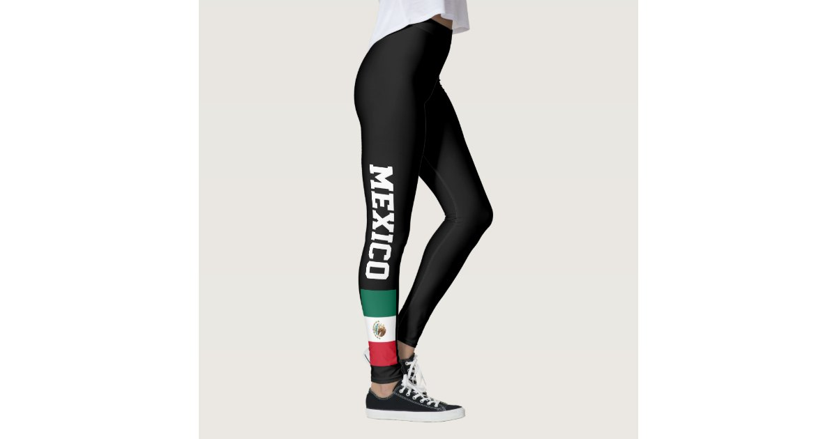 Mexican flag custom leggings for sport and fitness  Zazzlecom