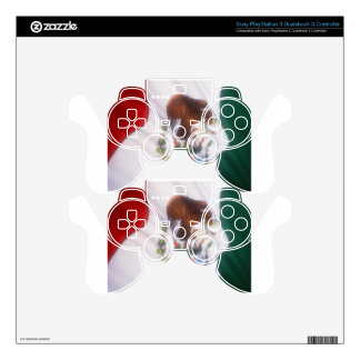 Mexican Flag Decal For PS3 Controller