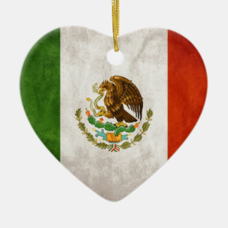 Mexican Flag Designs Ceramic Ornament