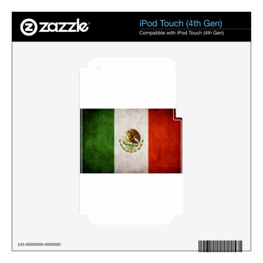 Mexican Flag Designs iPod Touch 4G Decal