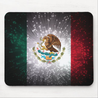 Mexican Flag Firework Mouse Pad