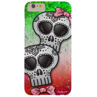 Mexican Flag Glitter Day of The Dead Sugar Skulls Barely There iPhone 6 Plus Case