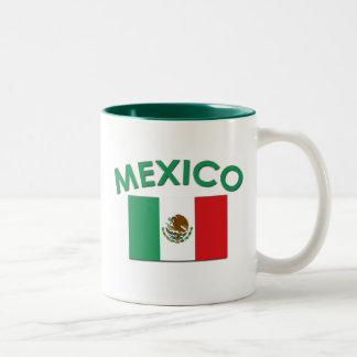 Mexican Flag (Green) Two-Tone Coffee Mug