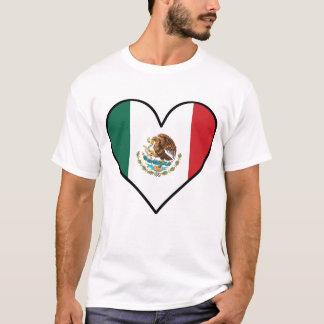 Mexican Flag Heart T-Shirt