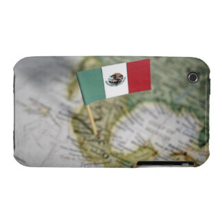 Mexican flag in map iPhone 3 Case-Mate cases