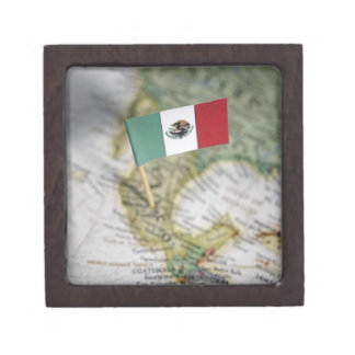 Mexican flag in map premium keepsake boxes