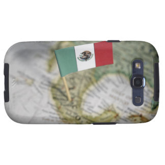 Mexican flag in map samsung galaxy s3 cover